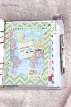 Travel planner | 2015 planner addiction second level: Kikki.K planner with Erin Condren insert