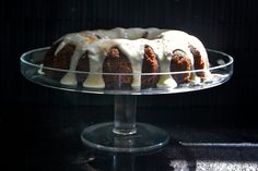 Carrot Pineapple Bundt Cake with Sour Cream Frosting