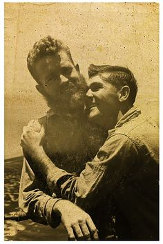 Vintage photo of a gay couple