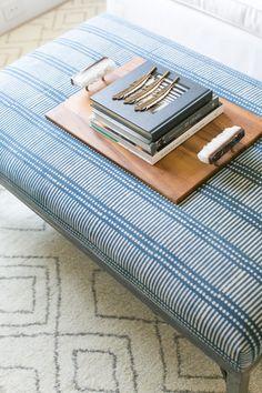 ottoman + wood tray