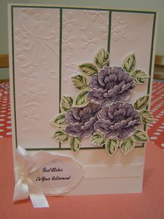 Stampin' Up! - Stippled Blossoms, my favourite two-step stamp set :)