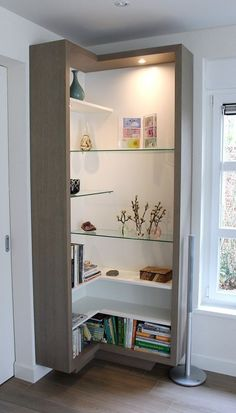 Practical corner furniture - clever solution for more storage space at home - Fr. - Practical corner furniture – clever solution for more storage space at home – Fresh ideas for t - Rustic Wood Clocks, Shelves, Corner Furniture, Interior, Home, Family Living Rooms, House Interior, Home Interior Design, Home Decor Furniture