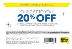 Best Buy Printable Coupon December 2013 – 20% off Discount