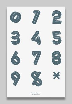 Connected Typeface by Stephan Lerou