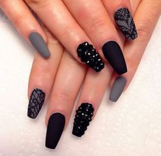 Black, Gray, Lace, & Rhinestones...love this!