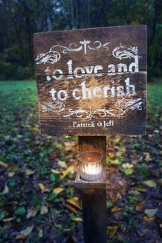 Pretty handmade sign. We could do this!
