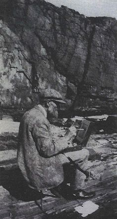 Emil Carlsen sketching outdoors (probably Ogunquit, Maine), Archives of American Art, Smithsonian Institution.