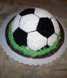 Kick Off Soccer Ball Cake - Honeybee Bakeshop