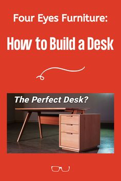 Chris Salomone of Four Eyes Furniture demonstrates how to build the perfect mid-century modern desk. Watch his build here!  #createwithconfidence #foureyesfurniture #chrissalomone #deskbuild #perfectdesk