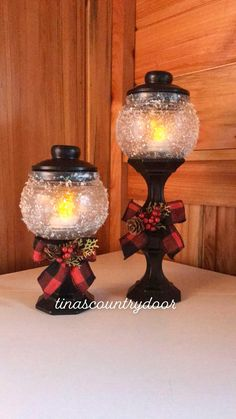 Dollar Tree Candles, Dollar Tree Candle Holders, Dollar Tree Fall, Dollar Tree Christmas, Dollar Tree Decor, Dollar Tree Crafts, Xmas, Christmas Lamp Post, Christmas Projects