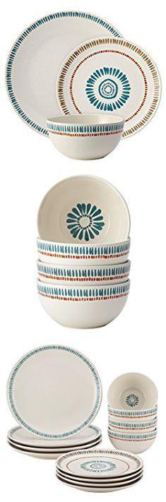 Qvc Temptations Dinnerware. Rachael Ray Cucina Sun Daisy 12-Piece Stoneware Dinnerware Set, Print.  #qvc #temptations #dinnerware #qvctemptations #temptationsdinnerware