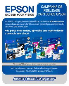 E-mail marketing com alguns cartuchos da Epson.