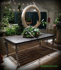 Table and planter by Opiary at the Chicago Flower Show