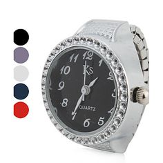 0b067d94365   4.99  Women s Ring Watch Japanese Quartz Silver Casual Watch Analog Ladies  Sparkle Fashion - Purple Red Blue One Year Battery Life   SSUO LR626