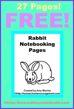 Free Printables Rabbit Notebooking Pages - Homeschool Encouragement Notebooking Pages are designed to be used for any notebooking project, and also work as writing paper if your child needs to copy spelling words, write essays, practice handwriting, define vocabulary or whatever writing project you have in mind!  Each of these 27 pages has an adorable little rabbit to color when the assignment is finished.