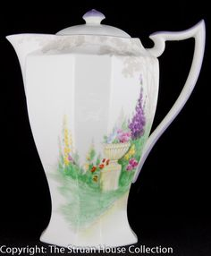 A fantastic Hot Water Jug in Shelley s iconic Queen Anne shape Pattern 11617 was introduced in October 1928 Enamelled and hand painted