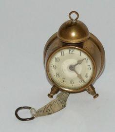Vintage Novelty Alarm Clock Tape Measure