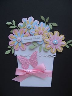 """6/23/2011; Ann Craig at her """"A Perfect day for ..."""" blog; Stampin' Up! Flower Pots for All Occasions; I like her design for this flower pot card; see photos!"""