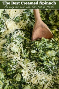The Best Creamed Spinach: my favorite steakhouse style, extra creamy, creamed sp. The Best Creamed Spinach: my favorite steakhouse style, extra creamy, creamed spinach takes only 15 minutes to make and is a tried and true family favorite! Low Carb Side Dishes, Vegetable Sides, Vegetable Side Dishes, Side Dish Recipes, Vegetable Recipes, Keto Recipes, Recipes Dinner, Spinach Side Dishes, Cheese Recipes