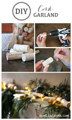 Make DIY Cork Garland for the Holidays