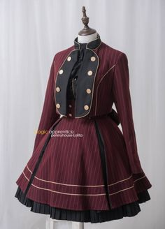 Penny House -The Academy of Magical Arts- Lolita Jacket and Skirt Set,Lolita Dresses, Pretty Outfits, Pretty Dresses, Beautiful Outfits, Old Fashion Dresses, Fashion Outfits, Steampunk Lolita, Gothic Lolita Fashion, Mode Lolita, Cosplay Outfits