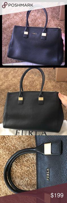 82475fd644 Furla satchel handbag black leather Furla women satchel handbag