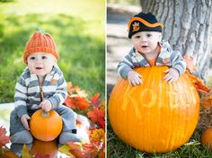 fall baby photos // fall baby poses // halloween baby ideas // 8 month portraits // 9 month photos // baby pumpkin ideas // alicia lucia photography // albuquerque lifestyle photography