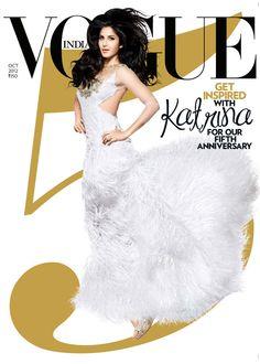 Katrina Kaif wearing Prabal Gurung Vogue India 5th anniversary cover series