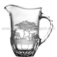 Safari Clear Pitcher 548€ Whiskey Decanter, Water Pitchers, Luxury Candles, Crystal Collection, Budapest, Safari, Crystals, Objects, Table