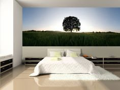Tree in a Field of Wheat Wall Mural,   for our bedroom~!