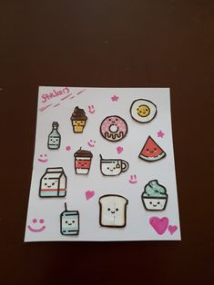 My own DIY kawaii stickers. I made it from a youtube channel.