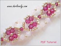 Beaded Bracelet Pattern Tutorial Ruby Rose Water Flower