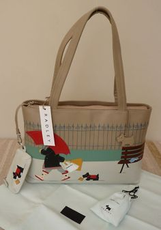 "Radley Large Shoulder Signature/Picture Bag ""Retail Therapy"" - I think this one should be called Stormy Weather!"