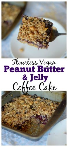 Peanut Butter & Jelly Chickpea Coffee Cake combines the classic flavor ...
