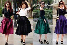 С чем носить юбку миди – модницам на заметку.