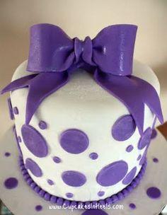 purple polka dots!