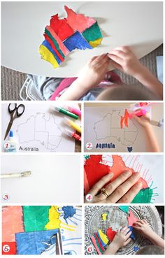Australia map puzzle by Belinda Graham. A really cute Australia Day craft for kids. - good idea for canada day Craft Projects For Kids, Craft Activities For Kids, Preschool Crafts, Happy Australia Day, Australia Map, Map Puzzle, Holiday Program, Celebration Around The World, Anzac Day