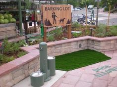 Custom dog water fountain for Whole Foods with pet bowls for both large and small dogs.