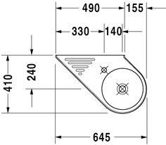 Duravit - Architec Washbasins Handrise basin #076565 by Duravit