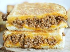 Sloppy Grilled Cheese Sandwiches – just for wellness