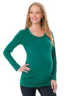 Motherhood Maternity: Long Sleeve Scoop Neck Twist Neck Detail Maternity T Shirt Motherhood Maternity. $14.99