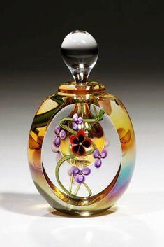 Glass perfume bottle by Roger Gandelman