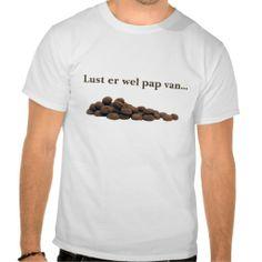T-shirt met pepernoten. Voor mannen, vrouwen en kinderen beschikbaar (diverse maten en kleuren).
