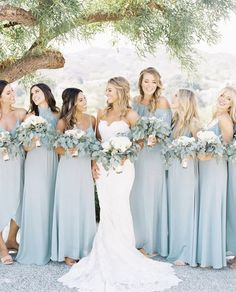 Silver Sage Bridesmaid Dresses blue bridesmaid dress for pretty wedding bridesmaids photos Buy directly from the world's most awesome indie brands. Or open a free online store. Sage Bridesmaid Dresses, Blue Bridesmaids, Beach Wedding Bridesmaids, Colorful Bridesmaid Dresses, Prom Dresses, Pretty Wedding Dresses, Bridal Party Dresses, Wedding Parties, Party Gowns