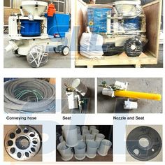 7-9m3 per hour concrete shotcrete machine with its parts
