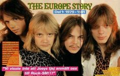 Rare pic of early period Europe the band Russian fanclub
