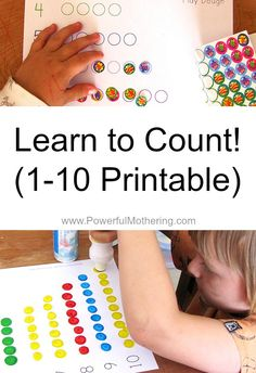 Learn to Count! 1-10 free Printable from PowerfulMothering.com