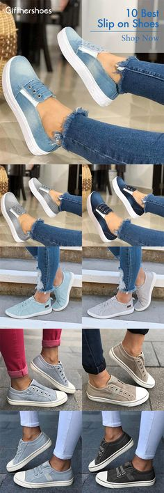 There are many casual slip-on shoes. They are all very comfortable, which will help you actively spend your day and not hinder your movements. Pick the best slip-on shoes of 2 Get OFF Code : Casual Slip On Shoes, Casual Heels, Sneaker Games, Shoulder Strap Bag, Sport Casual, Summer Shoes, Cute Shoes, Trendy Outfits, Fashion Shoes