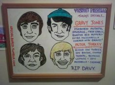A Davy Jones tribute by Vinnie's Pizza in Brooklyn. - very clever