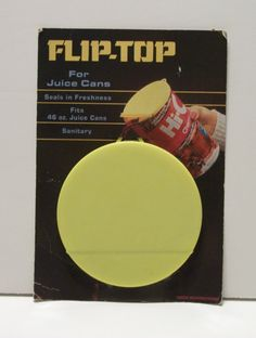 Vintage Hi-C Flip Top Juice Can Lid- 70's? by TimsTimelessToys on Etsy